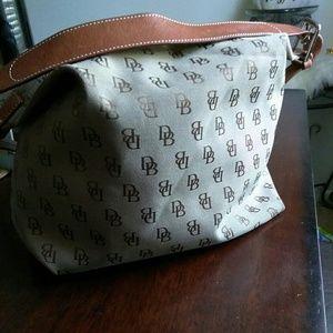 Dooney & Bourke Tan Logo Satchel purse